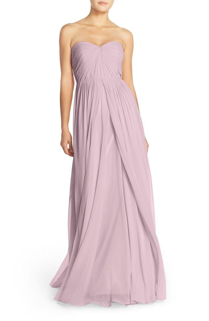 97f45366ee7e Women's Jenny Yoo 'Mira' Convertible Strapless Pleat Chiffon Gown ...