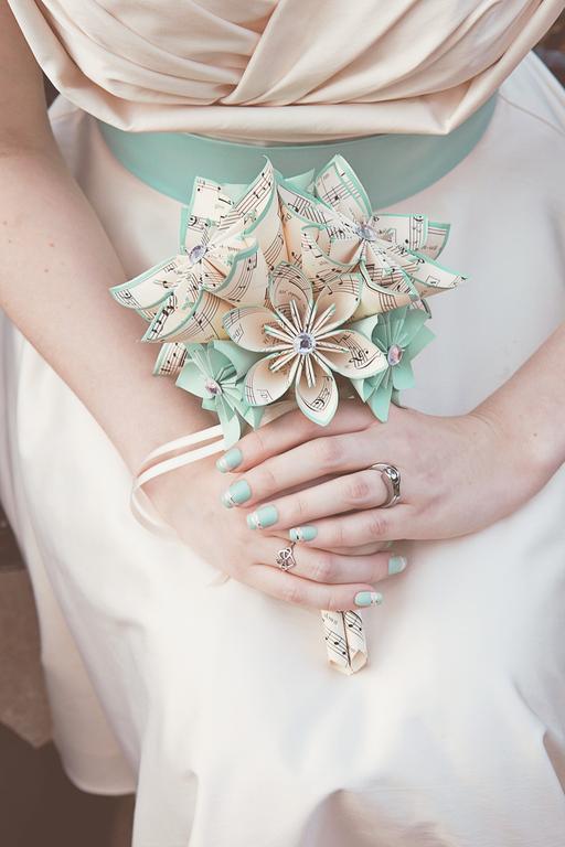 Handmade Sheet Music Bridal Bouquet- 9 Inch, 16 Flowers, Custom ...