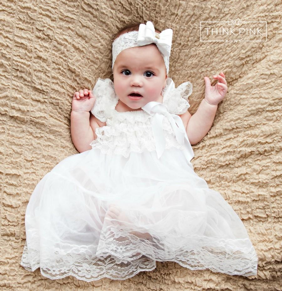 Baby Dress Flower Girl Dress Rustic Flower Girl Country Flower ...