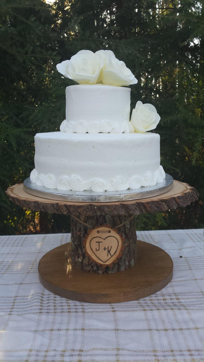wood cupcake stand personalized cake stand log cake. Black Bedroom Furniture Sets. Home Design Ideas