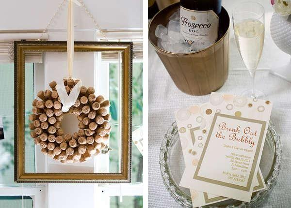 Wedding - Engagement Party Inspiration: A Break Out The Bubbly Shoot From Host-it Notes