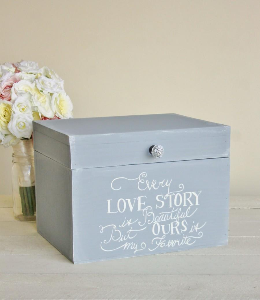 Düğün - Rustic Chic Wedding Card Box Every Love Story (Item Number MMHDSR10041)