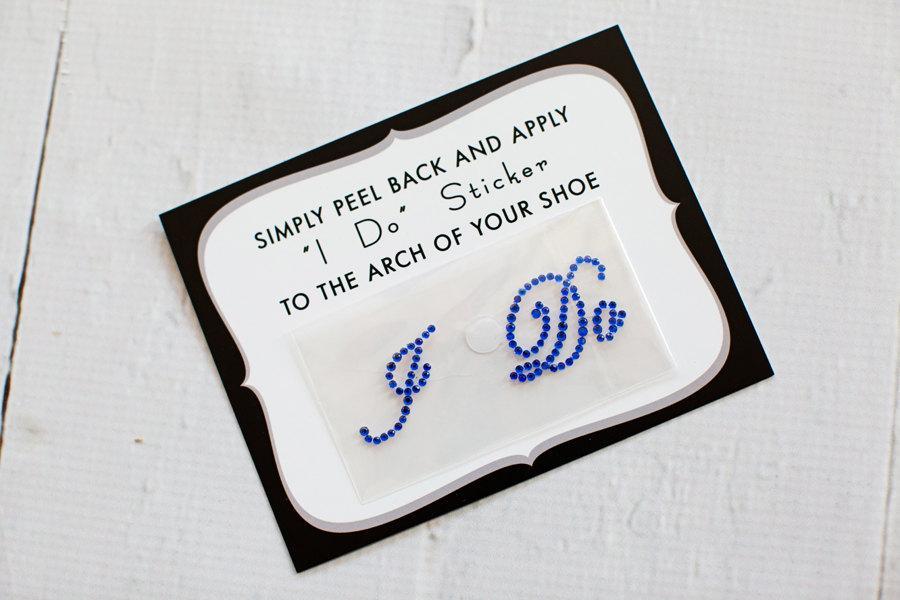 زفاف - I Do Shoe Stickers for Brides Shoes, Weddings, Something Blue, Bridal Details