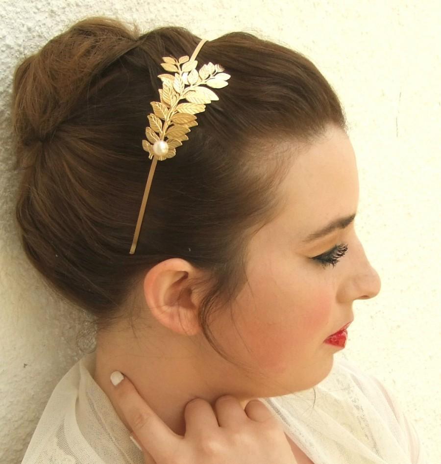 زفاف - Leaf Crown, Gold Leaf Headband ,Wedding Bridal Headpiece, Bridal Hair Vine, Wedding Hair Accessories , Brides Headpieces, Wedding Headband