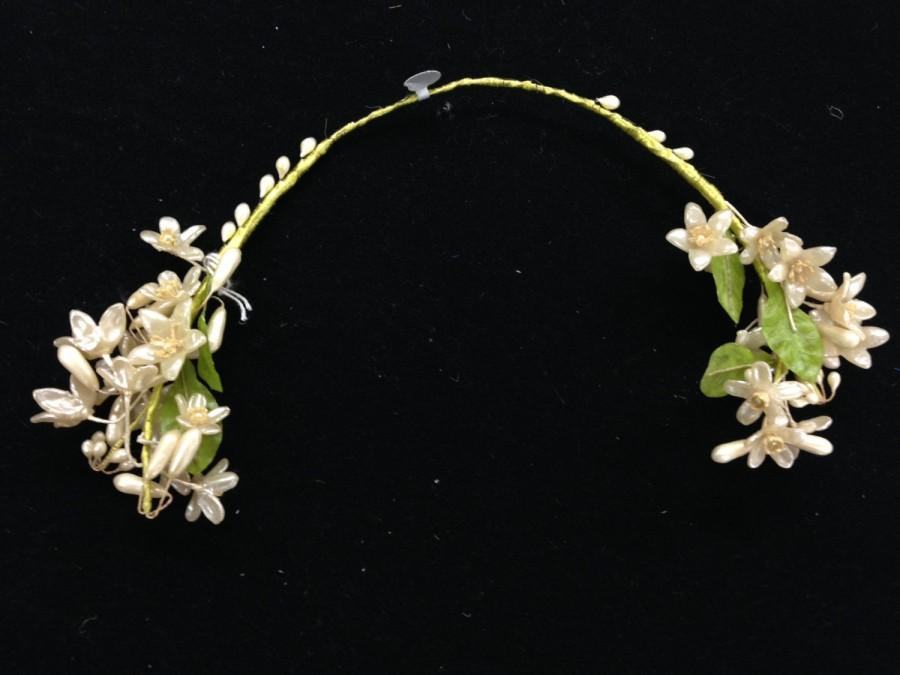 Mariage - Vintage 1910s Wide Bridal Wax Flower Crown (To Be Worn With Veil)