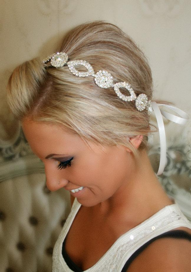 Свадьба - ON SALE Bridal Headband, Wedding Head Piece, CRYSTAL, Rhinestone Headband, Wedding Headband, Bridal Hair Piece, Bridal Headpiece, Rhinestone