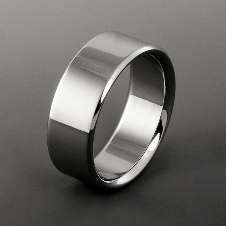 Titanium wedding ring titanium ring wedding band mens for Titanium womens wedding ring
