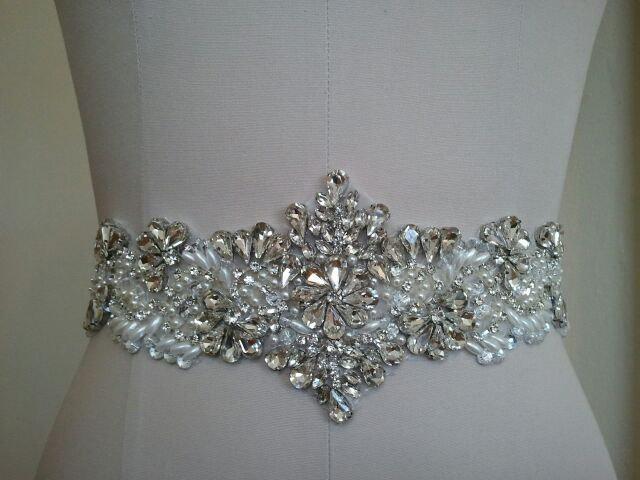 Свадьба - SALE - Wedding Belt, Bridal Belt, Sash Belt, Crystal Rhinestones & Pearls - Style B3000