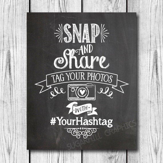 زفاف - Chalkboard Wedding Sign, Printable Hashtag Wedding Sign, Custom Social Media Sign, Printable Wedding Sign, Hashtag Sign, Wedding Decor