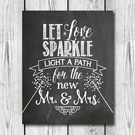 زفاف - Chalkboard Wedding Sign, Printable Wedding Sign, Chalkboard Wedding Sparkle Sign, Wedding Decor, Wedding Signage,  Let Love Sparkle Sign