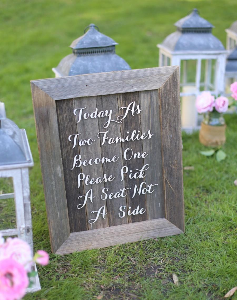 Mariage - Rustic Wedding Sign No Seating Plan Old Barn Wood NEW 2014 Design by Morgann Hill Designs