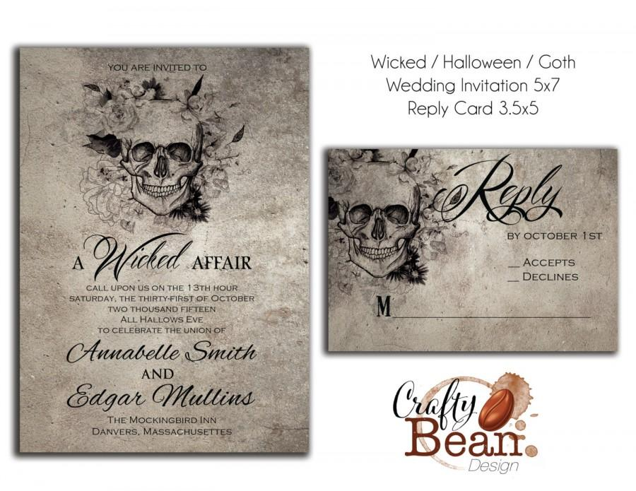wicked halloween horror gothic wedding invitation With free printable gothic wedding invitations
