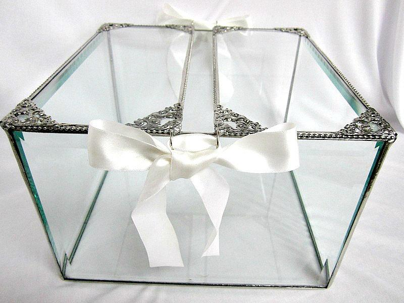 Wedding Card Box Wedding Card Holder Glass Wedding Card Box Bar – Wedding Reception Gift Card Holder