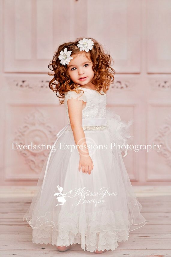Свадьба - Pure Sweet Angelic Flower Girl Dress