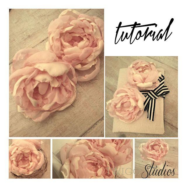 Hochzeit - ..Twigg Studios: Thrifted Fabric Peonies Tutorial