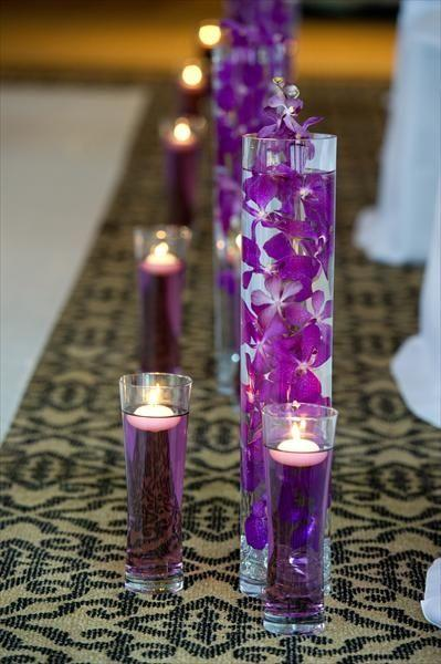 Food Coloring And Floating Candles/ Dollar Store Flowers.. Wedding ...