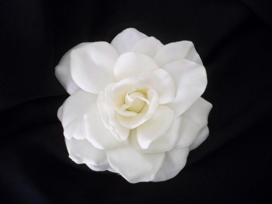 Mariage - Ultra Elegant Realtouch Gardenia Bridal Hair Clip Fascinator Bridal Accessory