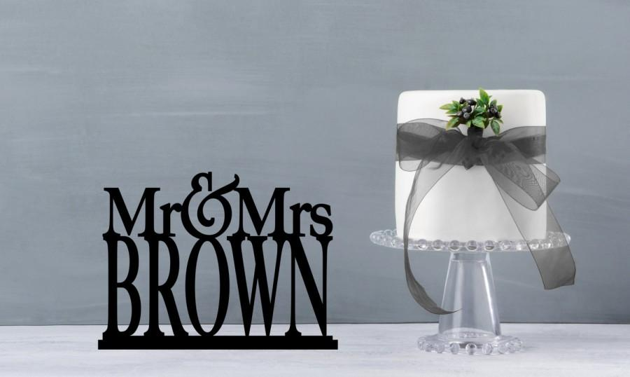 Mariage - Mr and Mrs Table Sign, Mr and Mrs Table Stand, Wedding name table sign, custom table sign, large mr and mrs name sign (S198)