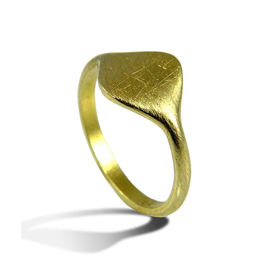 Unique Wedding Band Yellow Gold Elegant Band Pinky Ring