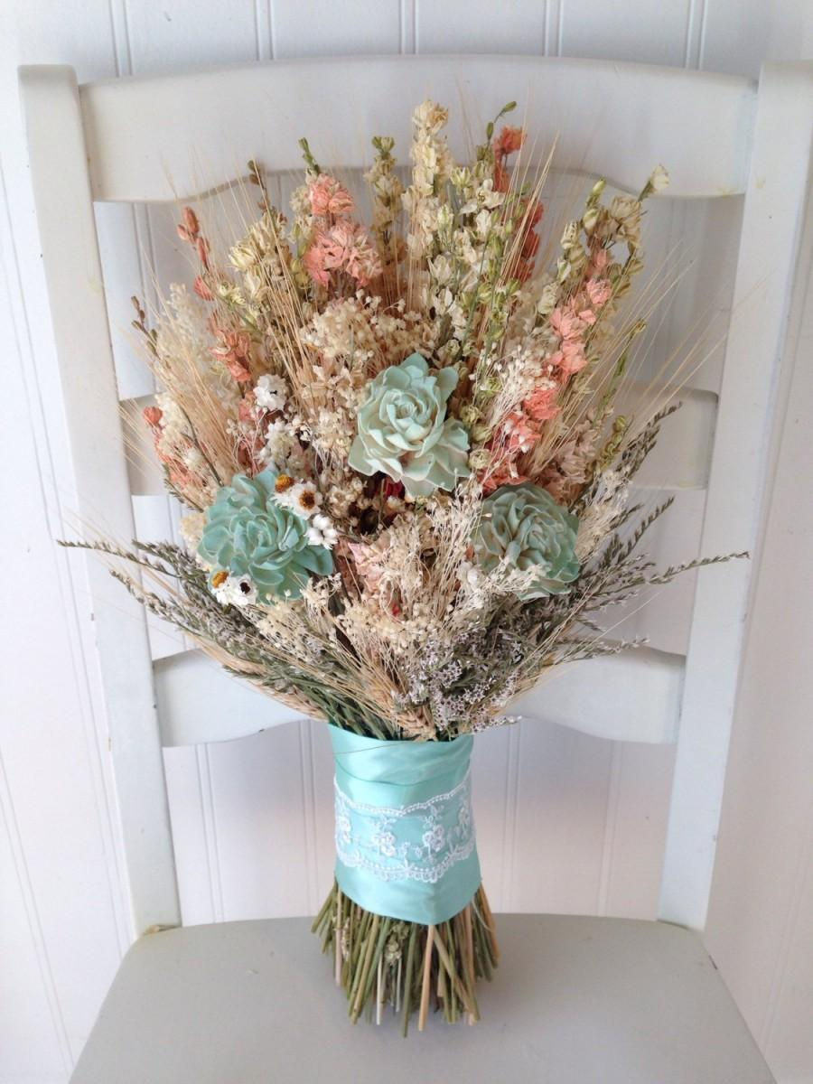 mint and blush wedding party bouquets bridal bouquet