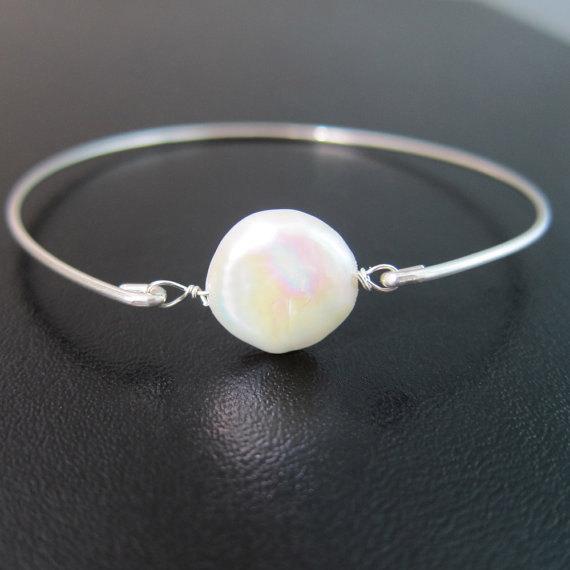 زفاف - Sterling Silver Pearl Bracelet, Mother of Groom Gift from Bride from Son, Mother of the Groom Bracelet, Stepmom, Stepmother Wedding Gift