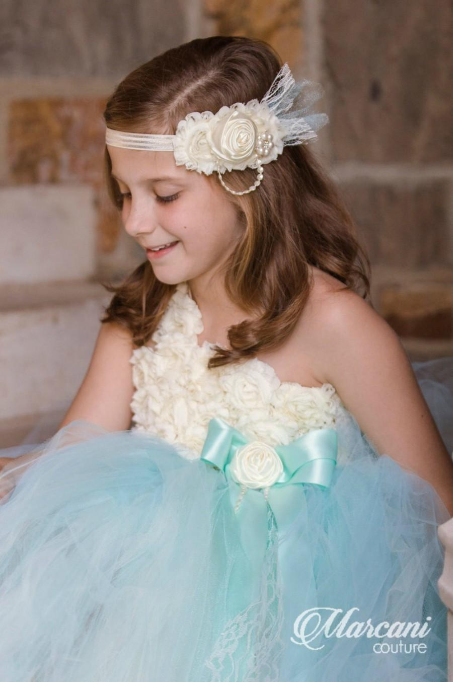 Ivory Flower Girl Dress Flower Girl Dress Tiffany Bluetutu Flower