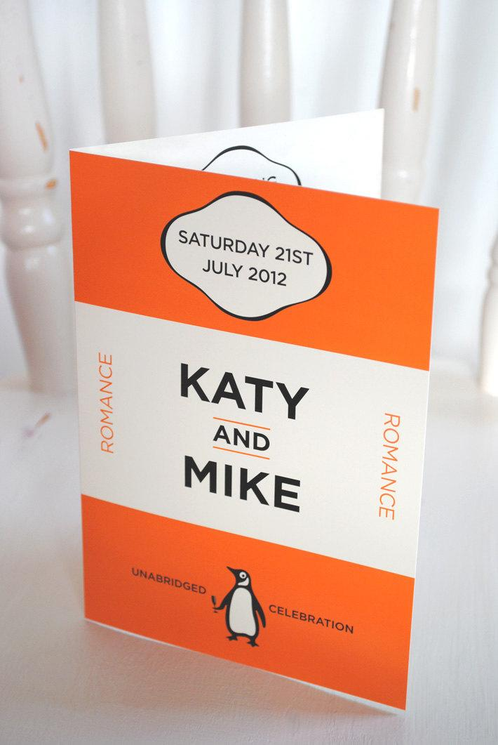 Wedding - Classic Books Themed Wedding Invitations and Wedding Stationery - sample pack