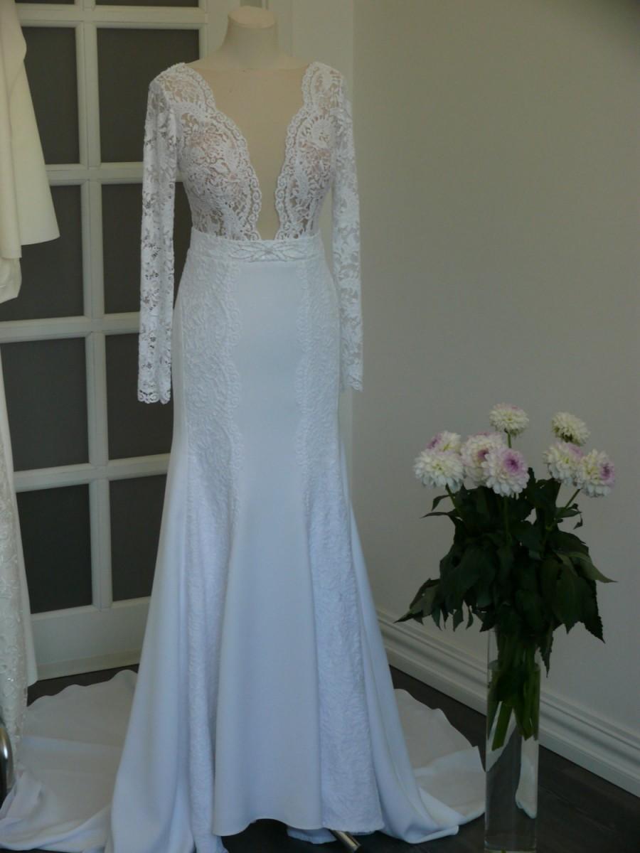 Long Wedding Dress With Lace (Custom Made Wedding Dress), Romantic ...