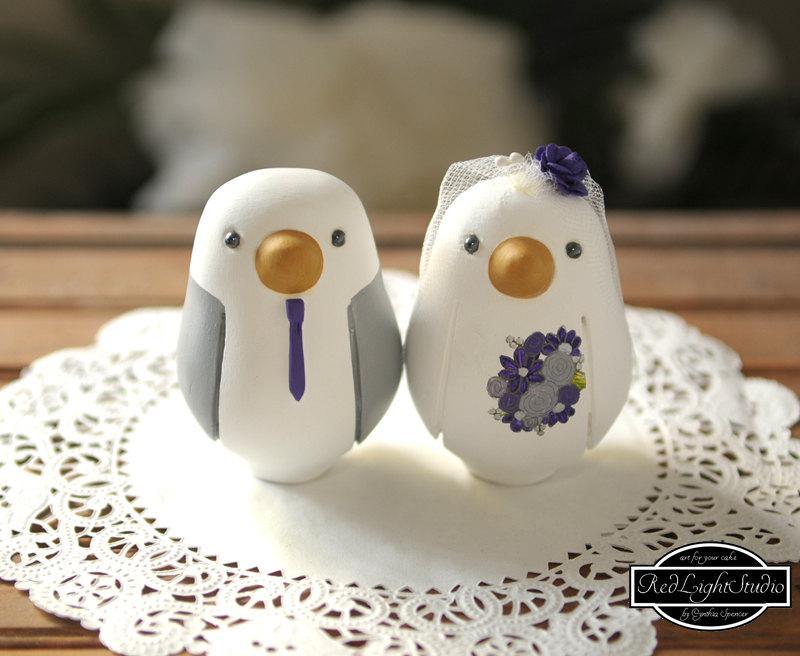 Wedding - Wedding Cake Topper - Medium Love Birds