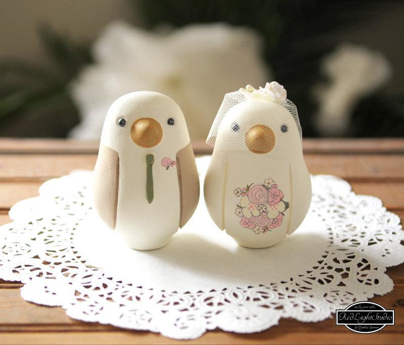 Свадьба - Wedding Cake Topper - Custom - Medium Love BIrds