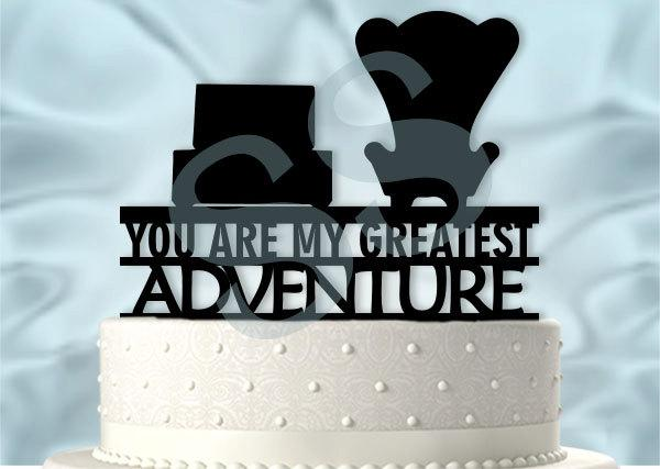 Mariage - Up inspired Greatest Adventure Cake Topper