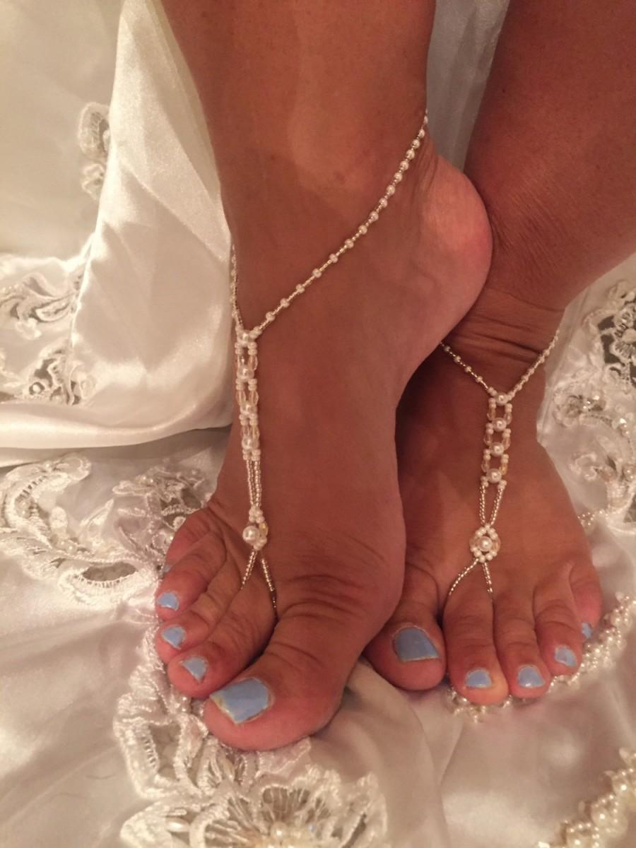 Hochzeit - Barefoot Wedding Sandals, Barefoot sandals, TOP SELLER, Bridal Sandal, Beach Wedding, Bridal Jewelry,
