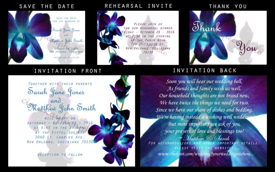 photo relating to Fleur De Lis Printable identify Blue Orchid Fleur De Lis Marriage ceremony Invitation Do it yourself Printable