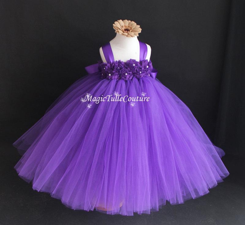 5c4af718282 Purple flower girl tutu dress wedding dress grape purple dress tulle dress  Junior Bridesmaid Dress 1T2T3T4T5T6T7T8T9T
