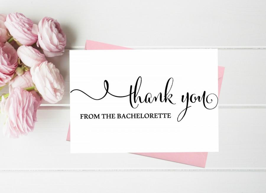 Свадьба - Wedding Thank you cards. Thank you from the Bachelorette cards. Bachelorette Thank you cards. Thank you from the soon to be Mrs. Cute CArds
