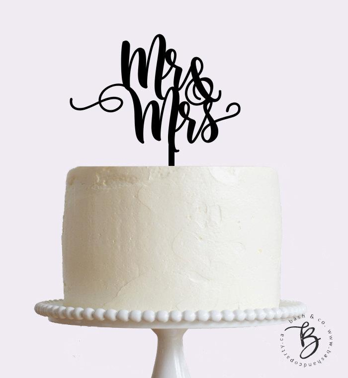 Gold Mr And Mrs Wedding Cake Toppers
