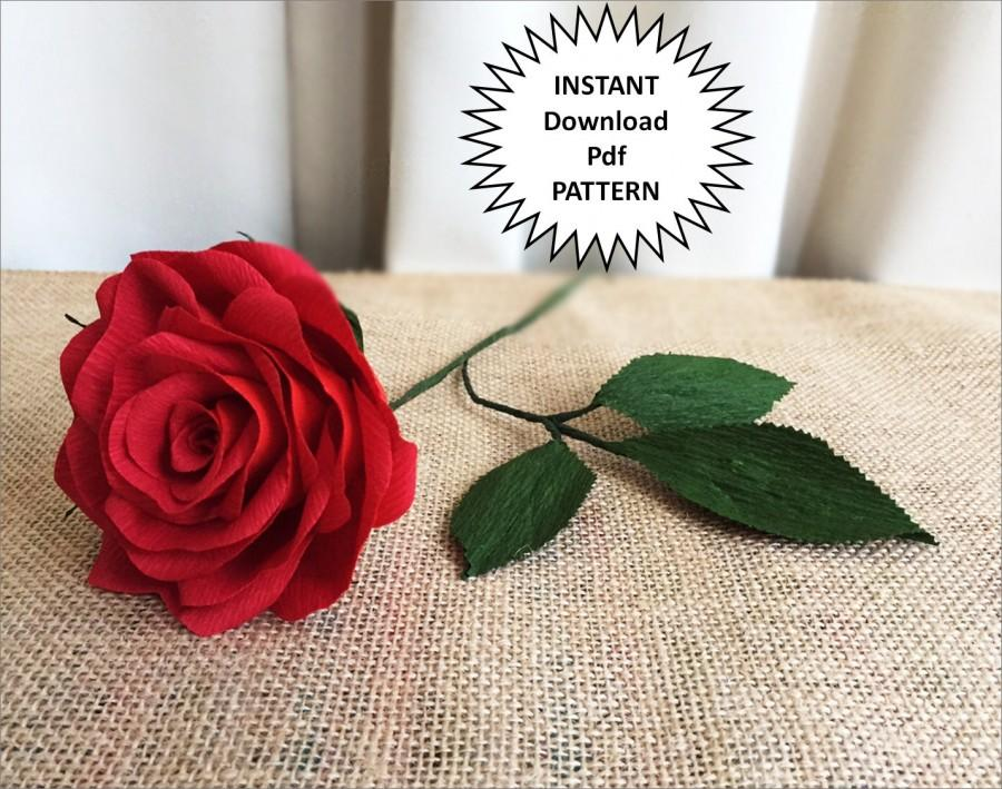 Pdf pattern diy paper roses crepe paper roses paper flowers diy pdf pattern diy paper roses crepe paper roses paper flowers diy craft tutorial instructions paper rose wedding diy flower bouquet home decor mightylinksfo