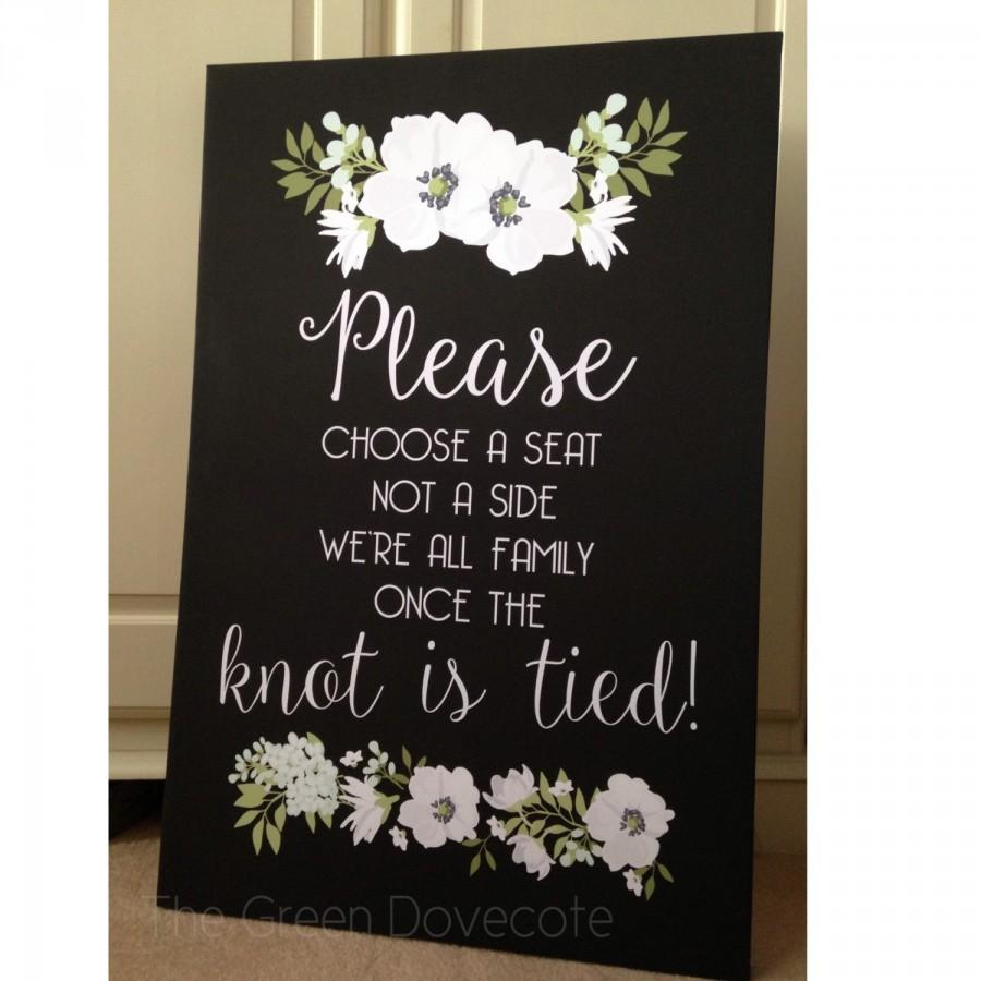 Choose A Seat Sign   Wedding Seating Sign   Pick A Seat