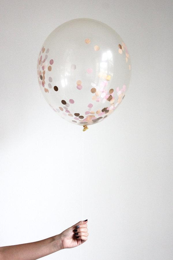 Mariage - Confetti Filled Balloon - SORBET