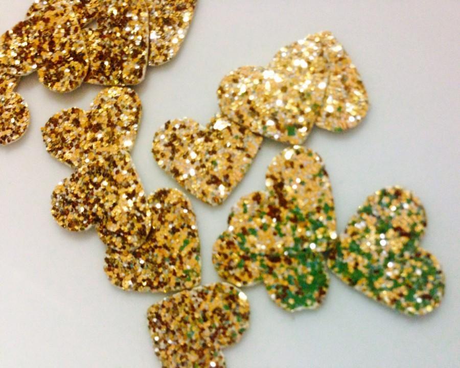 Свадьба - Gold confetti hearts, glitter confetti, confetti hearts, glitter hearts, glitter confetti hearts.
