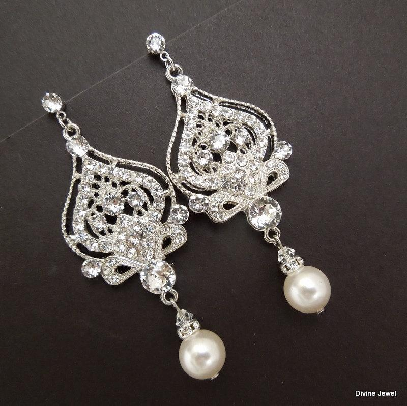 Ivory pearl chandelier earrings wedding chandelier design ideas aloadofball Choice Image