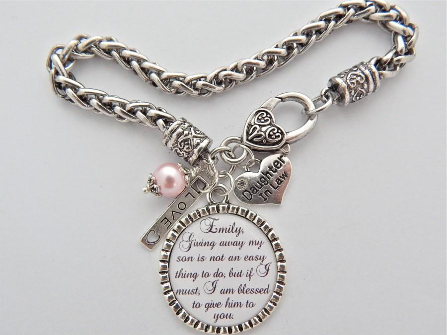 Future Daughter In Law Bracelet Gift Bride To Be Charm Giving Away My Son Is Not An Easy Thing Do