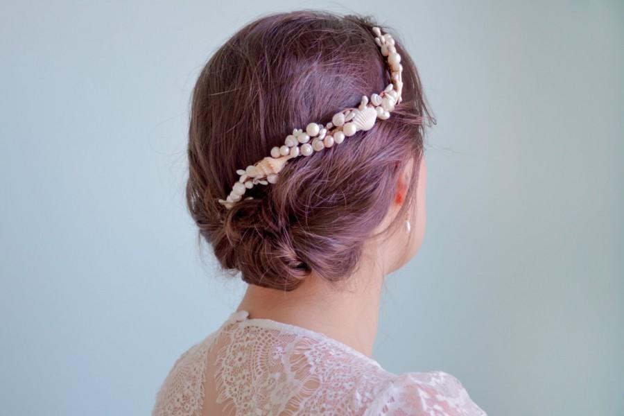 Seashell Headpiece Beach Wedding Hair Accessories Bridal Headband Crown Starfish Comb