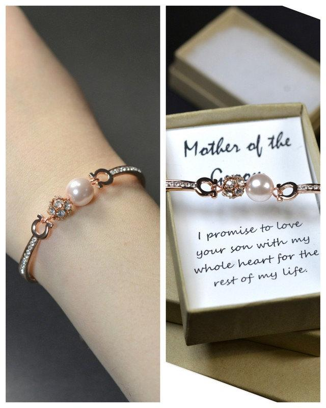 mother in law giftgroom mother bracelet cardrose gold blush pinkpink wedding jewelry bridesmaid gift bridesmaid jewelry bridal jewelry