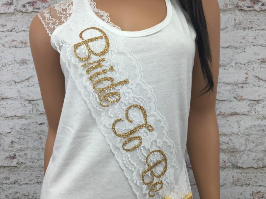 Lace And Glitter Sash, Bachelorette Sash, Bride To Be Sash, Bridal Bow Sash, Rhinestone Sash ...