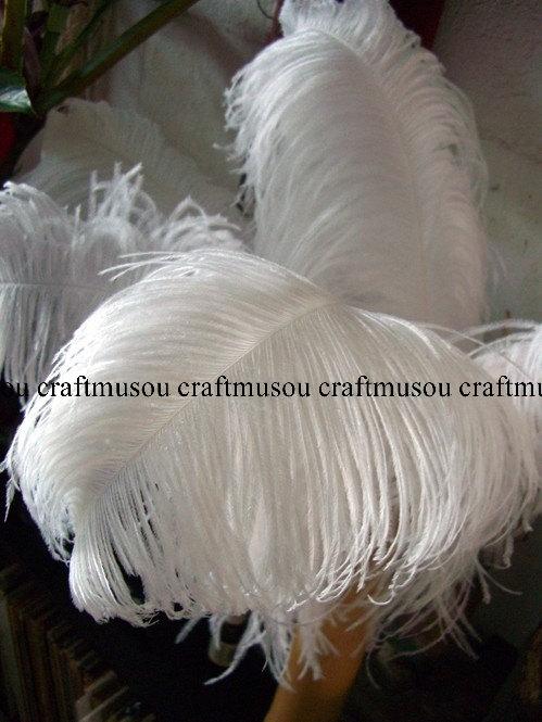 Mariage - BULK 100 Piece - 10-24 inches White ostrich feather for Wedding Centerpiece decoration