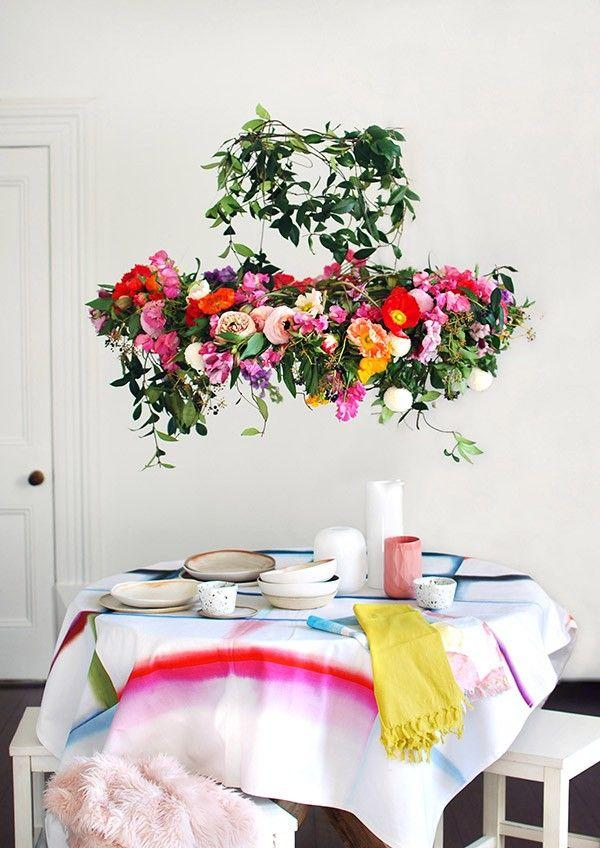 Wedding - Tutorial: Make A Hanging Flower Chandelier For Your Next Party