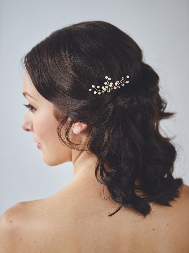 Mariage - Gold Pearl Headpiece
