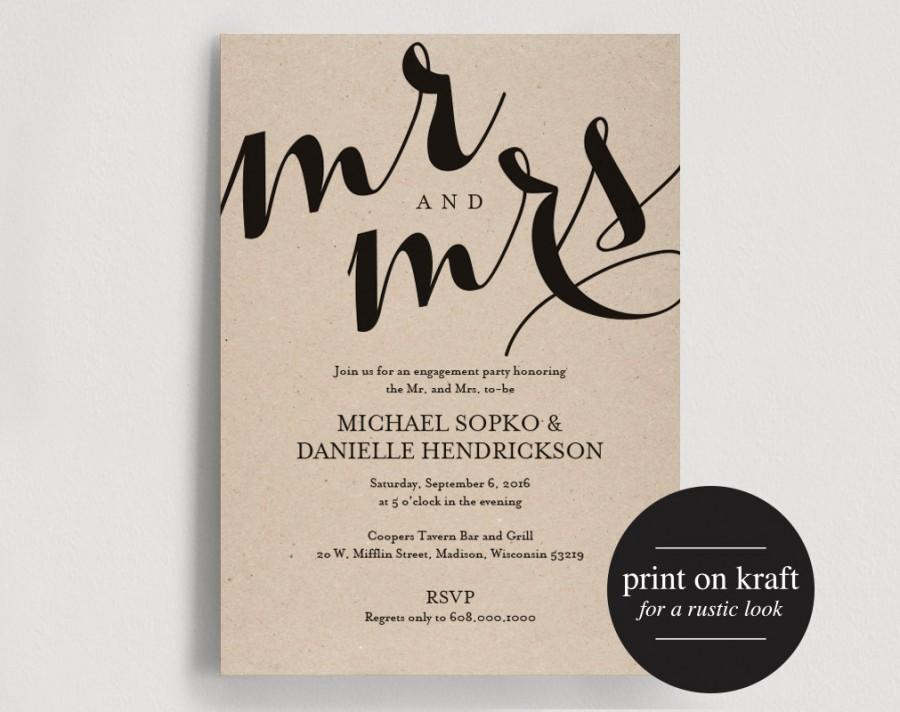 Engagement Party Invitation, Engagement Invitation, Printable
