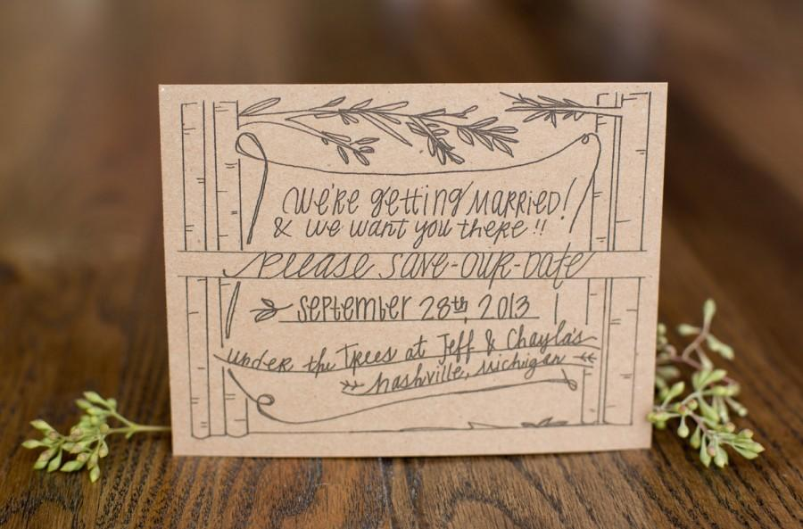 Wedding - Tall Trees Save-The-Dates